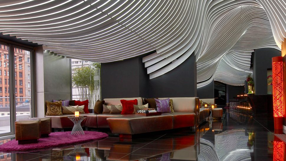 W new york downtown new york united states for W living room bar nyc