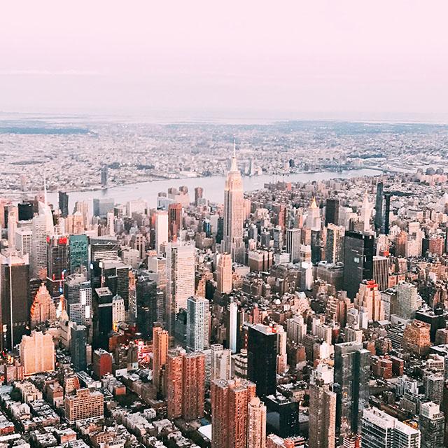 Destination Guide to New York City, city view, aerial