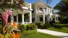 villa exterior white