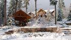 exterior winter wonderland