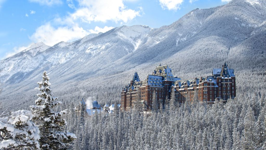See More Information About Fairmont Banff Springs Exterior Winter