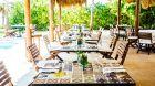 Outdoor dining at Hotel Esencia