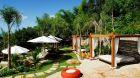 outdoor lounging cabanas