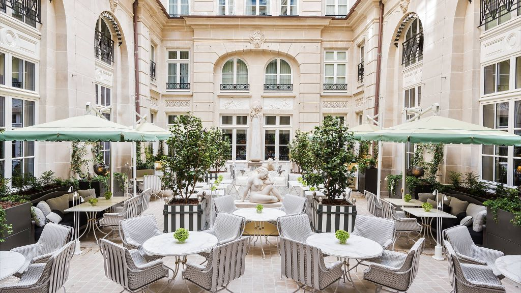 Hôtel de Crillon, a Rosewood Hotel, luxury hotels, WOW PICK OF THE YEAR, patio view