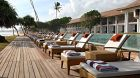 outdoor pool chairs daytime