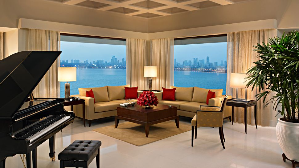 The oberoi mumbai maharashtra india for Grand piano in living room