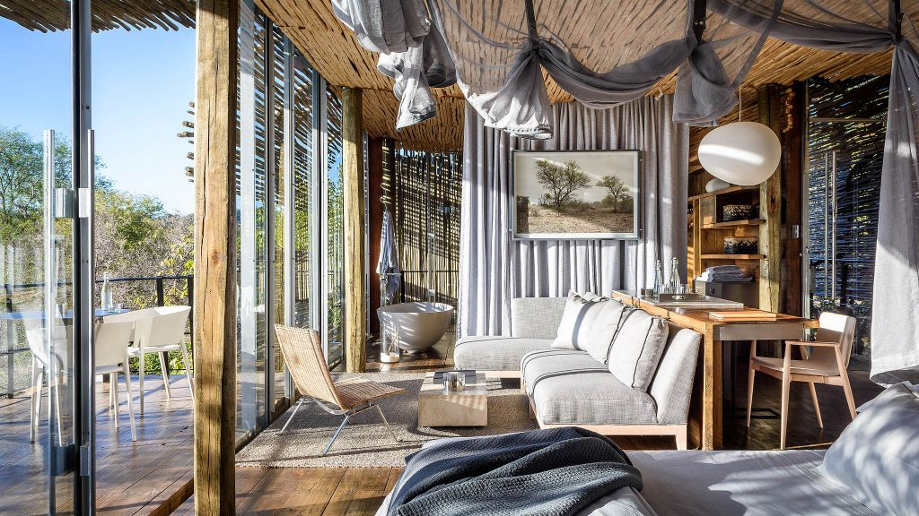 BEST SUSTAINABLE LUXURY Singita Africa. luxury hotels, room view