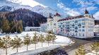Kempinski  Grand  Hotel des  Bains hotel winter day angle.
