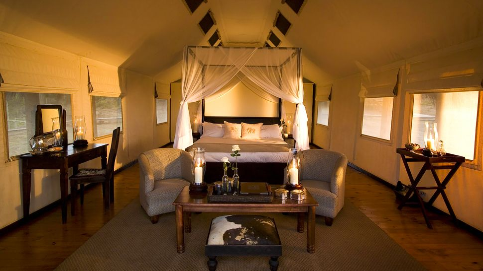 Located in South Africau0027s Addo Elephant National Park Gorah Elephant C& is one of the premier luxury means to experience Africau0027s sprawling savanna. & Luxury Tents for the Opposite of Roughing It - Four Rivers ...