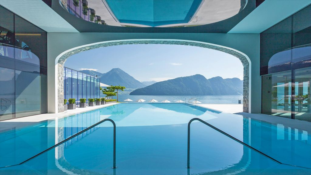 BEST POOL VIEW  Park Hotel Vitznau  Switzerland, pool view