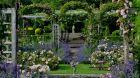 Great Fosters, Surrey rose garden in June