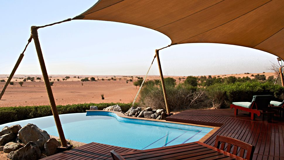 Al maha a luxury collection desert resort spa dubai for Pool and spa show dubai