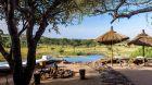 Outdoor pool with savannah views