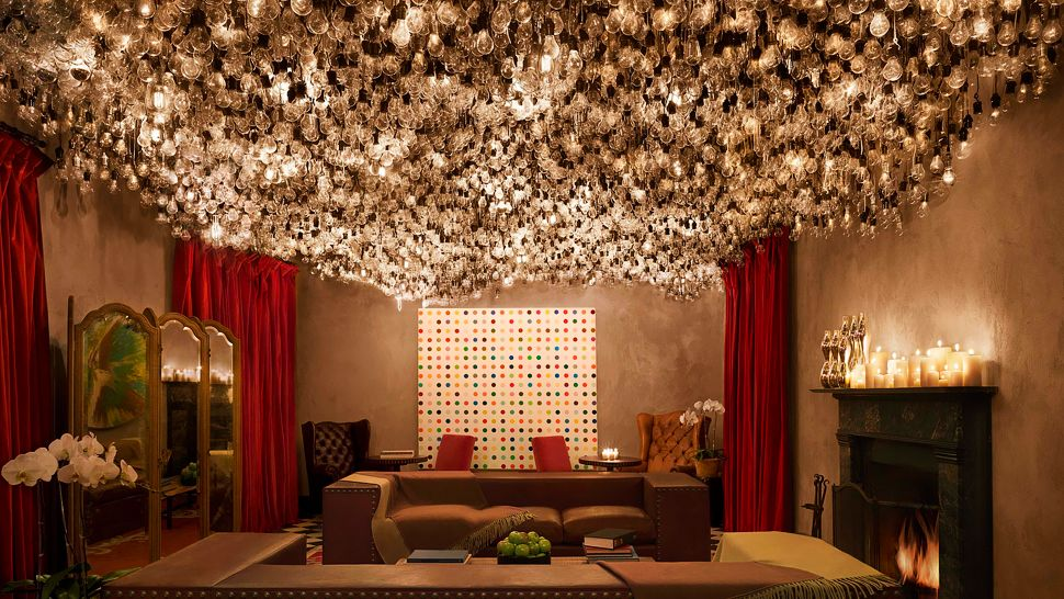 Ceiling Lights For Lounge : Gramercy park hotel new york united states