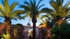 Villa Exterior Night Palm Trees