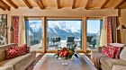 Private terrace with mountain view