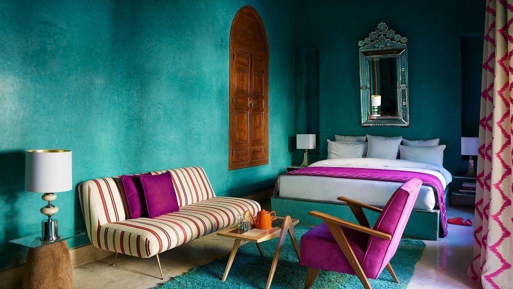 BEST BOUTIQUE HOTEL  El Fenn  Marrakech, luxury hotel, living room