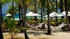 Beachfront hammocks
