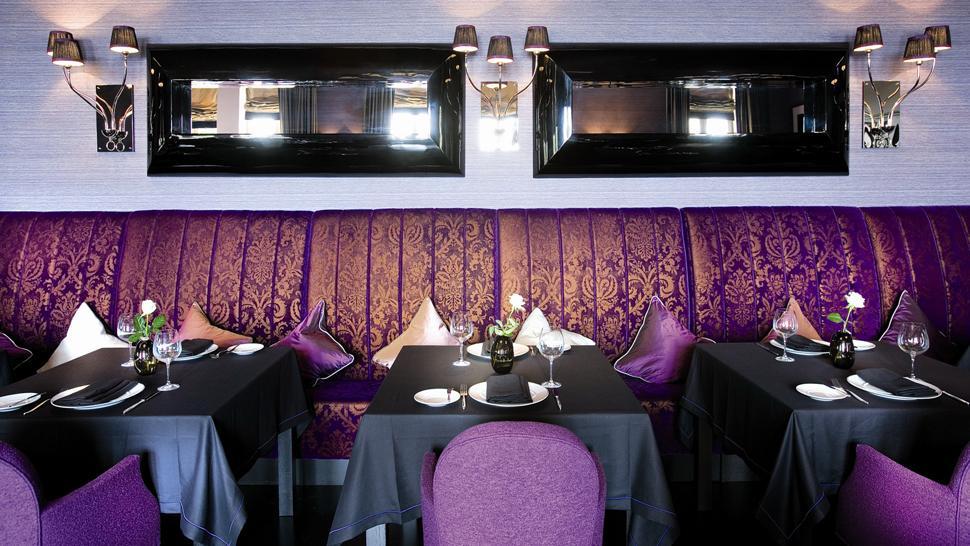 black purple restaurant