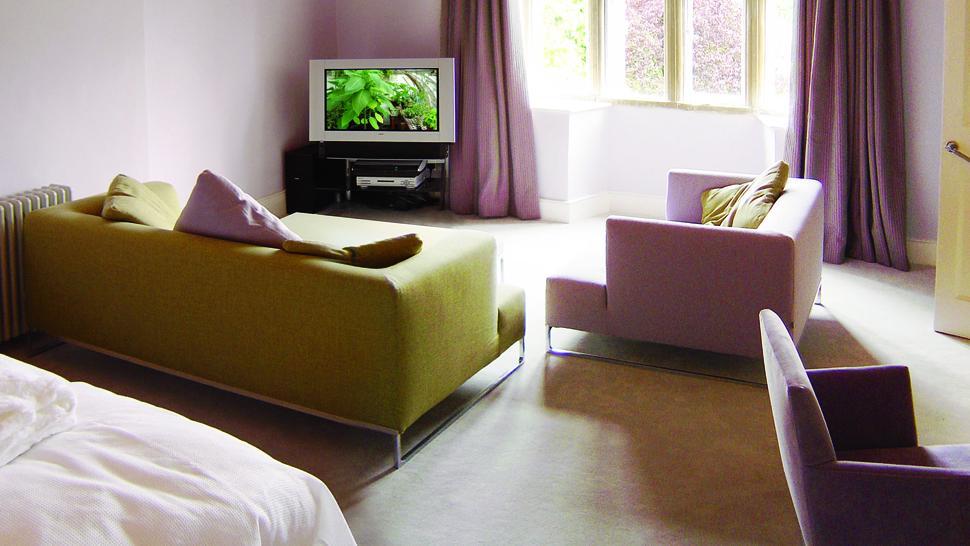 Pink Bedroom Living Room Front Gore Hotel