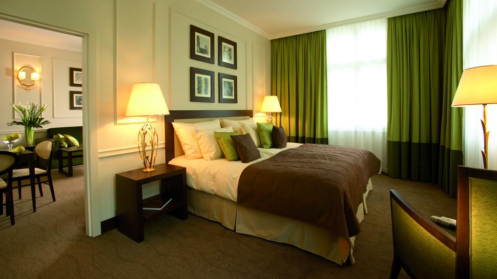 The ring vienna 39 s casual luxury hotel vienna austria - Brown and green bedroom ...