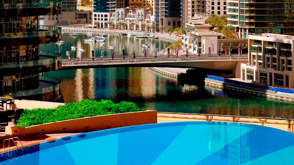 The address dubai marina dubai united arab emirates The address dubai marina swimming pool