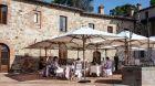 al fresco dining at Castel Monastero