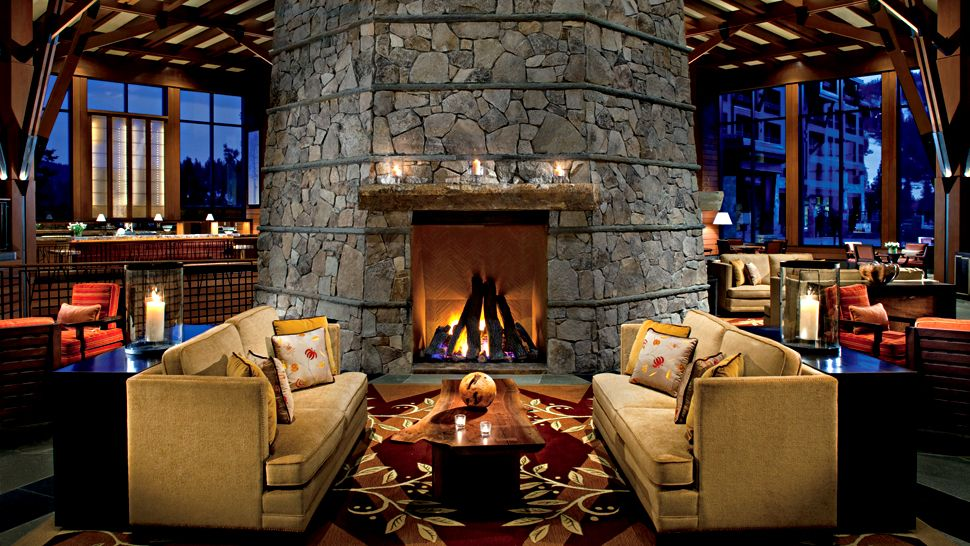 The ritz carlton lake tahoe lake tahoe california lounge fireplace teraionfo