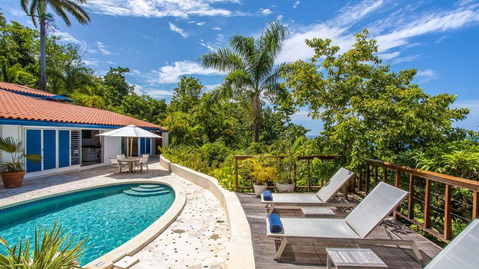 outdoor terrace with pool & Geejam Port Antonio Portland