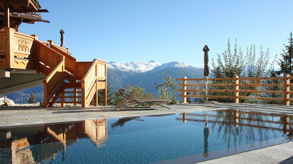 Lecrans hotel spa valais switzerland for Hotel design valais