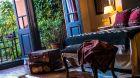 rustic bedroom at Jardin Escondido