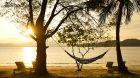 hammock and water