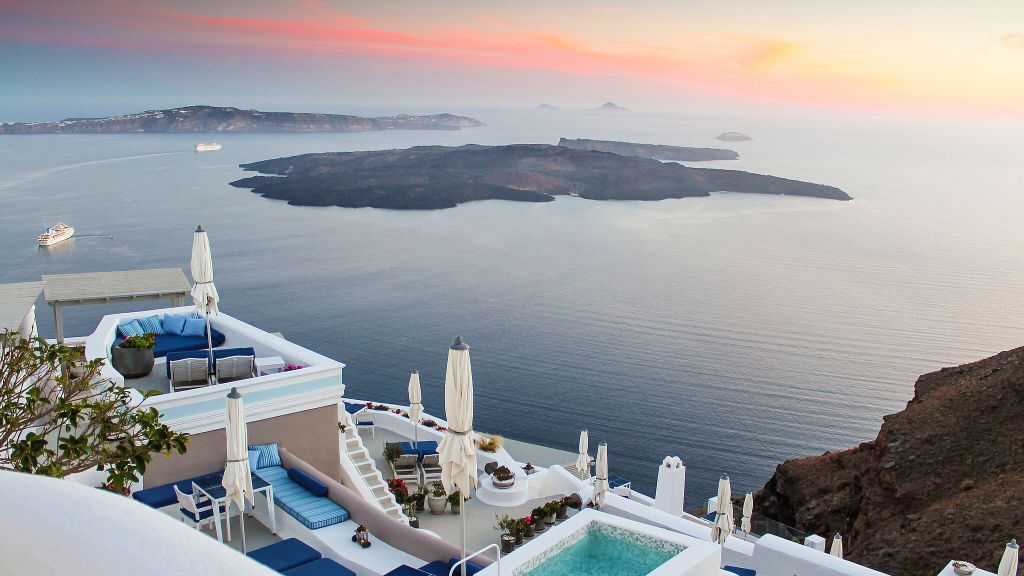 MOST ROMANTIC HOTEL  Iconic Santorini, a boutique cave hotel  Greece, view, luxury hotel