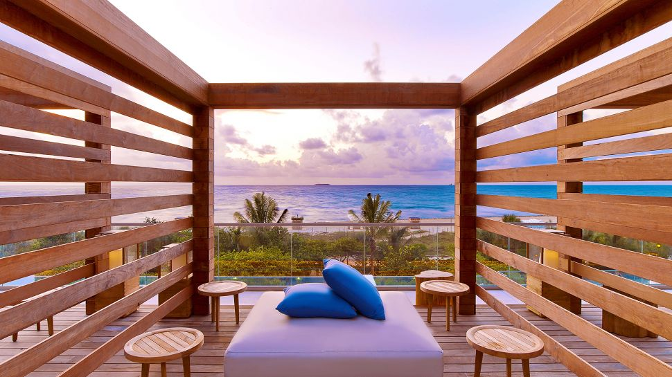 beachfront hotels, best all inclusive resorts, best beach resorts, pool view. beach couches, Miami, United States