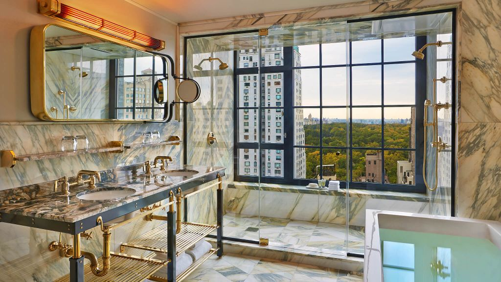 Marble Bathroom Overlooking Central Park