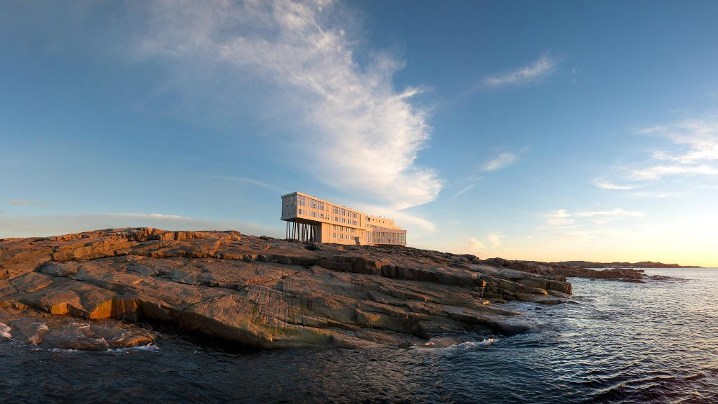 BEST FAR-FLUNG ESCAPE  Fogo Island Inn  Canada, hotel view, luxury hotel
