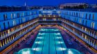 1Outdoor pool by night Hotel Molitor Paris
