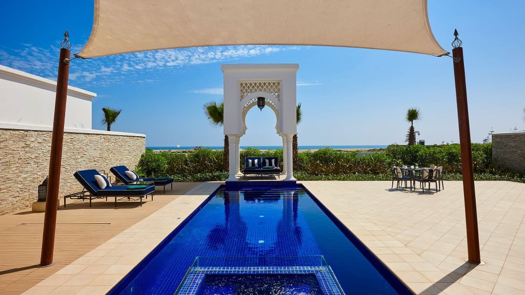 outdoor pool by the beach