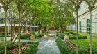 Garden courtyard.