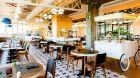 bright restaurant seating at Atocha