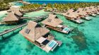 Aerial View Pool Overwater Villa